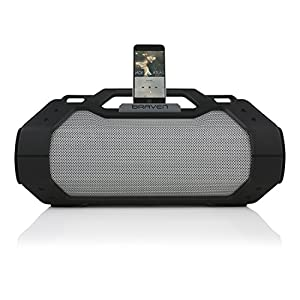 BRAVEN BRV-XXL Large Portable Wireless Bluetooth Speaker [Waterproof][Outdoor] Built-In 15,600mAh Power Bank USB Charger - Black / Titanium