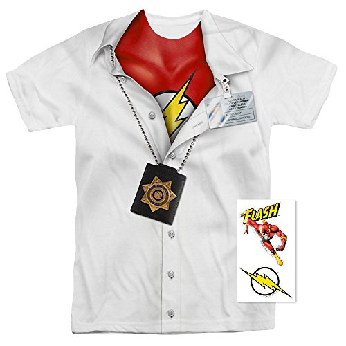 The Flash Pullaway Shirt DC Comics T Shirt (Large)
