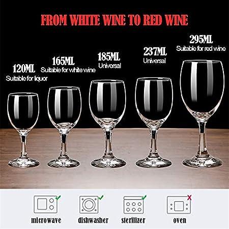 FFFLY Copas De Vino Blanco, Copas Cubata, Conjunto De 6 Copas De Vino Tinto, Hogar, Restaurantes Y Fiestas (Size : 295 ml-1)