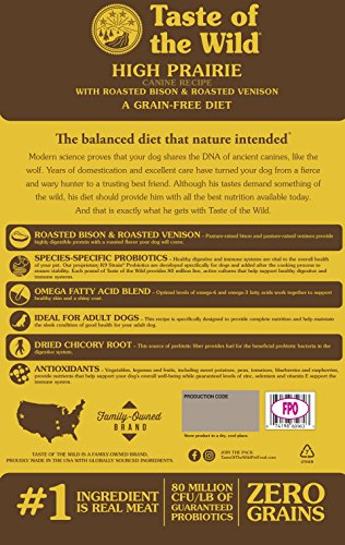 Large Product Image of Taste of the Wild High Prairie Grain Free High Protein Real Meat Recipe Natural Dry Dog Food with Real Roasted Bison & Venison 30lb