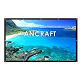 Projector Screen 100 inch(16:9) - Ancraft Portable Outdoor Movie Screen,PVC Fabri. Easy Install on Mount/Wall and Collapsible for HomeTheater/Camping/ Conference Room Presentation