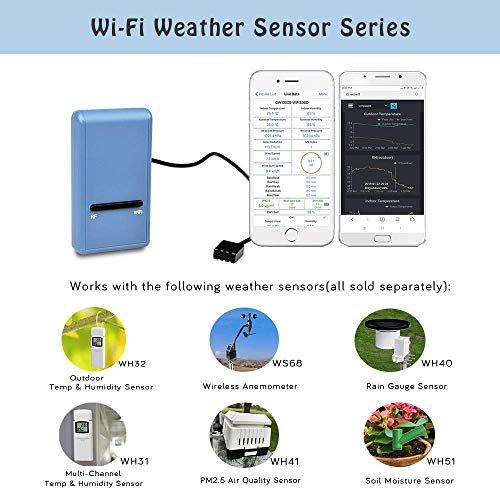 ECOWITT WH31 Multi-Channel Temperature and Humidity Sensor Can Not Be Used Alone 1 Sensor - Accessory Only