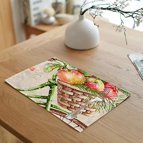(RXIN Christmas Series Napkin,2pcs Christmas Tree Snowman Christmas Hat Single Print New Year Creative Place Mat Family Decor)