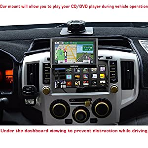 ChargerCity EasyBlade Car CD Slot Mount for Garmin Drive DriveSmart 50 51 60 61 Nuvi 2559 2577 2589 2598 2599 2639 2689 2699 52 55 57 57LM 58 67 67LM 68 LM LMT (GPS Bracket Caradle is included)