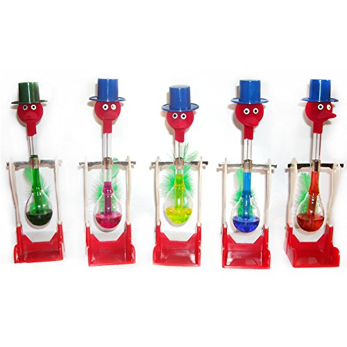 Poity 1 Piece Non-Stop Liquid Glass Drinking Lucky Bird Duck Desk Toy Perpetual Motion New