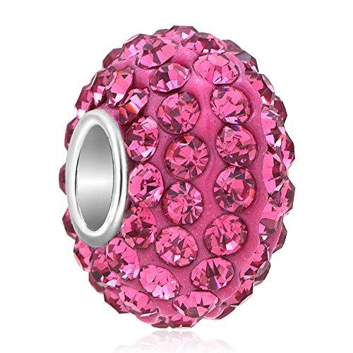 ThirdTimeCharm October Birthstone Charms Swarovski Elements Crystal Beads For Bracelets