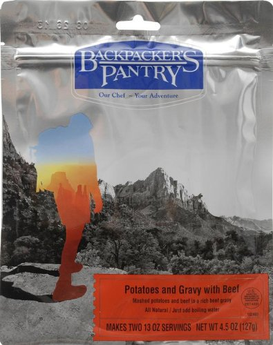 Backpacker's Pantry Potatoes with Gravy and Beef, Two Serving Pouch, (Packaging May Vary)​ (Backpackers Pantry)