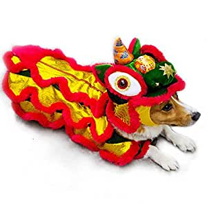 Amazon.com : afafqfe Funny Dog Clothes Winter Chinese New