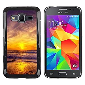 Paccase / SLIM PC / Aliminium Casa Carcasa Funda Case Cover - Sunset Sea Beautiful Nature 11 - Samsung Galaxy Core Prime SM-G360
