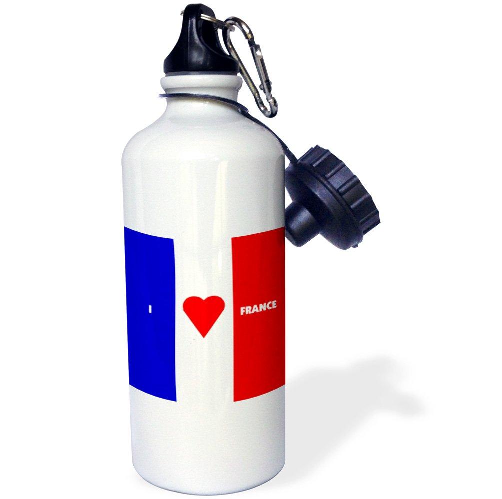 ローズWB _ 55221 _ 1新しいフランス旗スポーツウォーターボトル、21オンス、ホワイト   B008EVTG7U