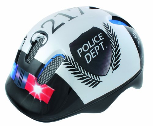 Ventura Children's Cycling Helmet, 48-52 cm, Police (White/Black)