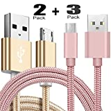 Micro-USB Cable,5Pack Ibarbe 5FT for Amazon Kindle Fire, Touch HD, HDX 8.9'' Paperwhite Voyage Oasis Tap Fire Phone Playstation 4 Xbox One