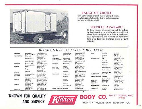Amazoncom 1967 Chevrolet Kidron Boyertown Step Van Truck Ad
