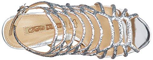 Caviglia 0 prata 5164 Zs Cinghia Donne Argento Hexa Sandali 01 15 Delle Buffalo Brilho Pu 067wS4