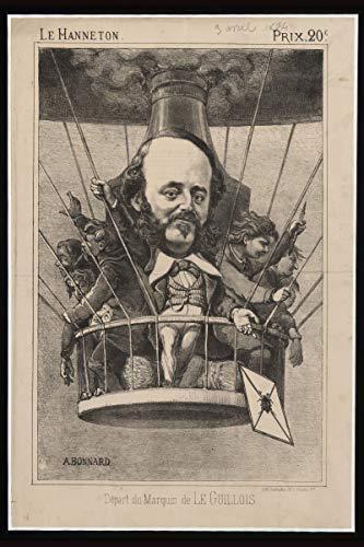 ClassicPix Photo Print 12x18: Depart Du Marquis De Le Guillois, Circa 1864 (Marquis Envelope)