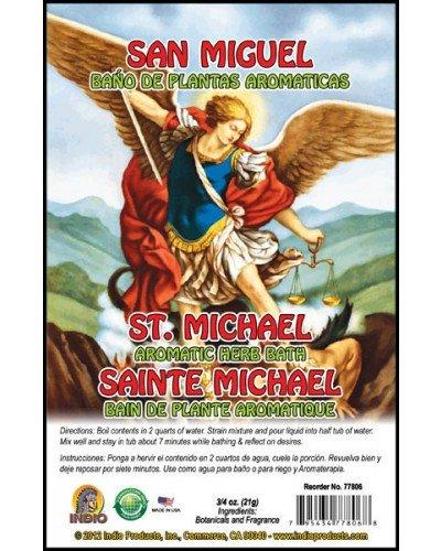 Aromatic Plant Bath for the Archangel Saint Michael (San Miguel) 3/4 Oz Bag (Bano De Plantas Aromaticas)