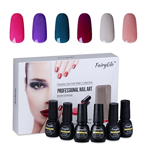 Nail Polish UV LED Soak Off Nail Art Gel Manicure Gift Set 6