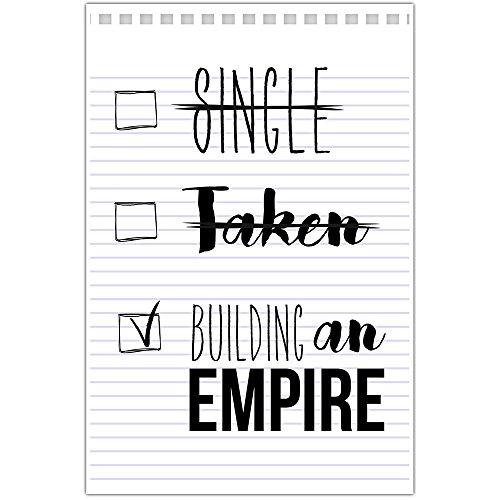 Single Taken Building An Empire Motivational Wall Art