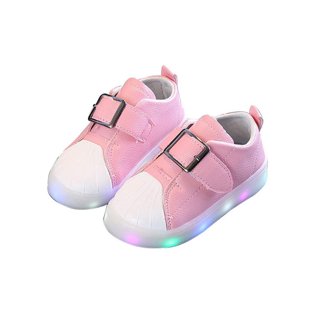 edv0d2v266 Led Light Shoe Baby Toddler Shoes Kids LED Children Toddler Light up Trainers Lace up Luminous Shoes(Pink 30/12MUSLittleKid) by edv0d2v266