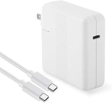 BatPower 61W PD USB-C Cargador y Cable de Carga Adaptador Fuente ...