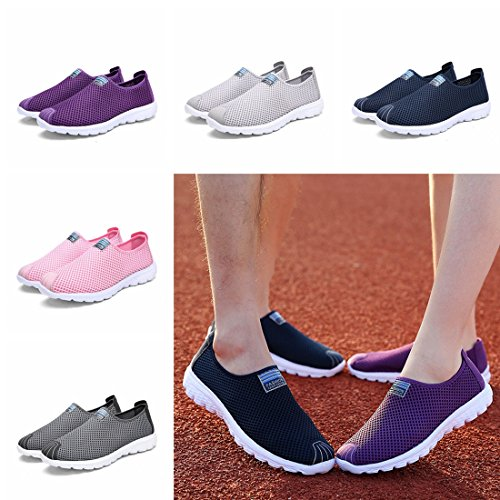 Blue Men Shoes Mesh Couple Casual Dark Athletic SEVENWELL Unisex Fashion Women Breathable Sneakers Sport fdpOqO
