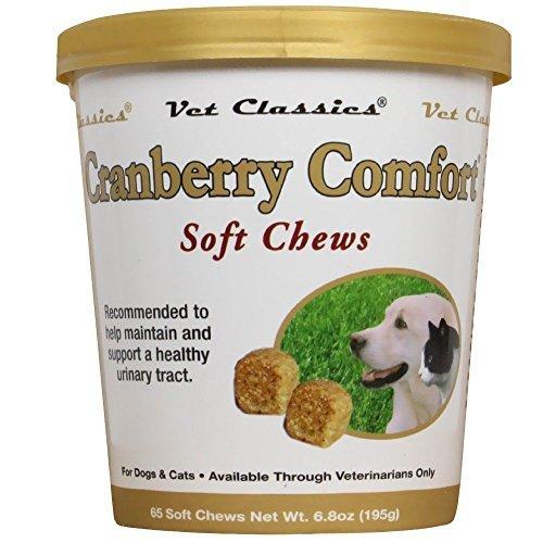 2 Pack! Vet Classics Cranberry Comfort Soft Chews (130 chews total)