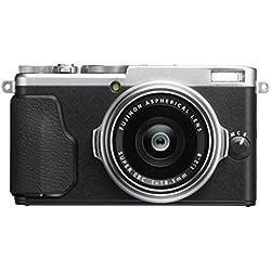 """Fujifilm X70 Fotocamera Digitale da 16 Megapixel, Sensore APS-C X-Trans CMOS II, Obiettivo 18.5 mm, f/2.8, Schermo LCD 3"""" Touch Screen Orientabile a 180°, Otturatore Centrale, Argento"""