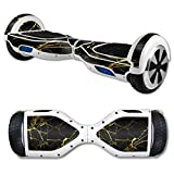 MightySkins Protective Vinyl Skin Decal for Hover Board Self Balancing Scooter mini 2 wheel x1 razor wrap cover Black Gold Marble