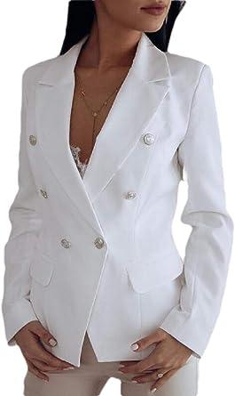 Veste A Manches Longues A Col En V Pour Femme Coupe Classique Amazon Fr Vetements Et Accessoires