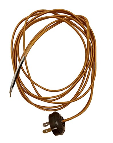 B&P Lamp Rayon Lamp Cord Set Antique Style Plug (Antique Rayon Wire)