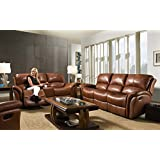 Cambridge 98527A3PC-BR 3 Piece Appalachia Living Room Set