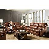 Cambridge 98527A3PC-BR 3 Piece Appalachia Living Room Set