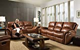 Cambridge 98527A3PC-BR Living Room Furniture, Brown