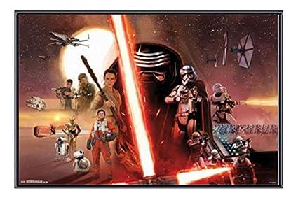 Amazon.com: (34x22) Star Wars the Force Awakens - Group Framed ...