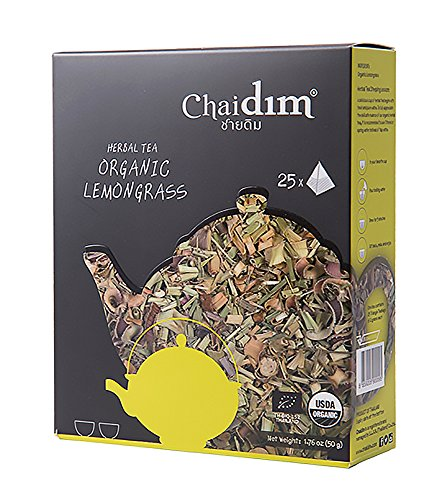 Dry Tea Laxative (Chaidim Premium Organic Herbal tea 25 teabags (Lemongrass))
