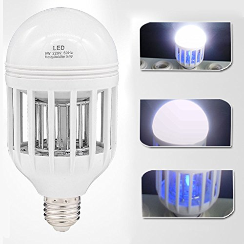 Mosquito Bulb Led Light Killer Anti 2in1 Insects Zapping Zapper Lamp Insect Function Bug Zaps Control Bugbulb E27 Pest