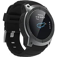 Leo565Tom Montre Connectée Smartwatch Intelligent Bluetooth GPS Montre de Sport, Multifonctionnel Tracker d'activité avec Cardiofréquencemètre, Moniteur de Sommeil pour Android iOS
