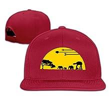 Men's Unisex African Sunset Elephant Wildest Lives Rock Cap Unisex Snapback Hats