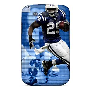 ChrismaWhilten Plz12295OrkX Cases Covers Skin For Galaxy S3 (indianapolis Colts)