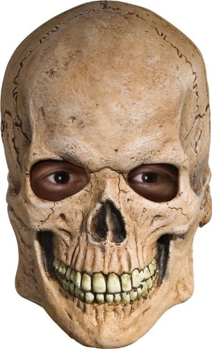 Rubie's Costume Deluxe Overhead Skull Mask,Tan, One (Ghost Rider Mask)