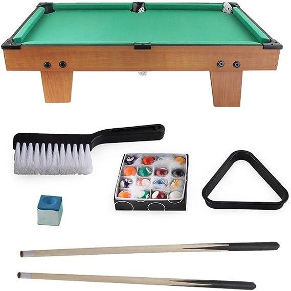 Juego de Billar Mini-piscina mesa de billar mesa de billar de juguete en miniatura con la mini bolas de piscina Cue Sticks Accesorios for adultos Niños de escritorio en miniatura mesa de