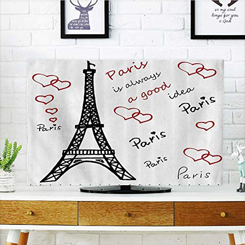 L-QN tv Protective Cover Eiffel Tower Paris is Always Good Idea Tourism Locatis SweLove Clipart tv Protective Cover W19 x H30 INCH/TV 32