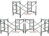 3 Sets of Scaffolding masonry Box frames 5′ x 5′ x 7′ Snap-On Scaffold CBM1290