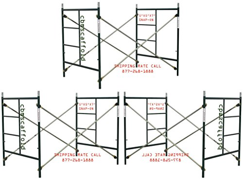 3 Sets of Scaffolding masonry Box frames 5' x 5' x 7' Scaffold CBM1290