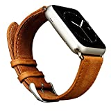 Best Apple Brands In Watches - Apple Watch Band,Jisoncase Genuine Leather Strap Wristband With Review