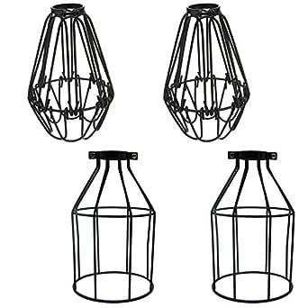 4 Pack/Set Modern Vintage industriales jaula alambre lámpara ...