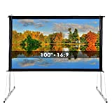 "Best GENERIC Portable Projection Screens - 100"" Outdoor Indoor Portable Projection HD Screen 16:9 Review"