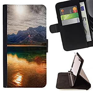 Momo Phone Case / Flip Funda de Cuero Case Cover - Sunset Beautiful Nature 41 - HTC One M8