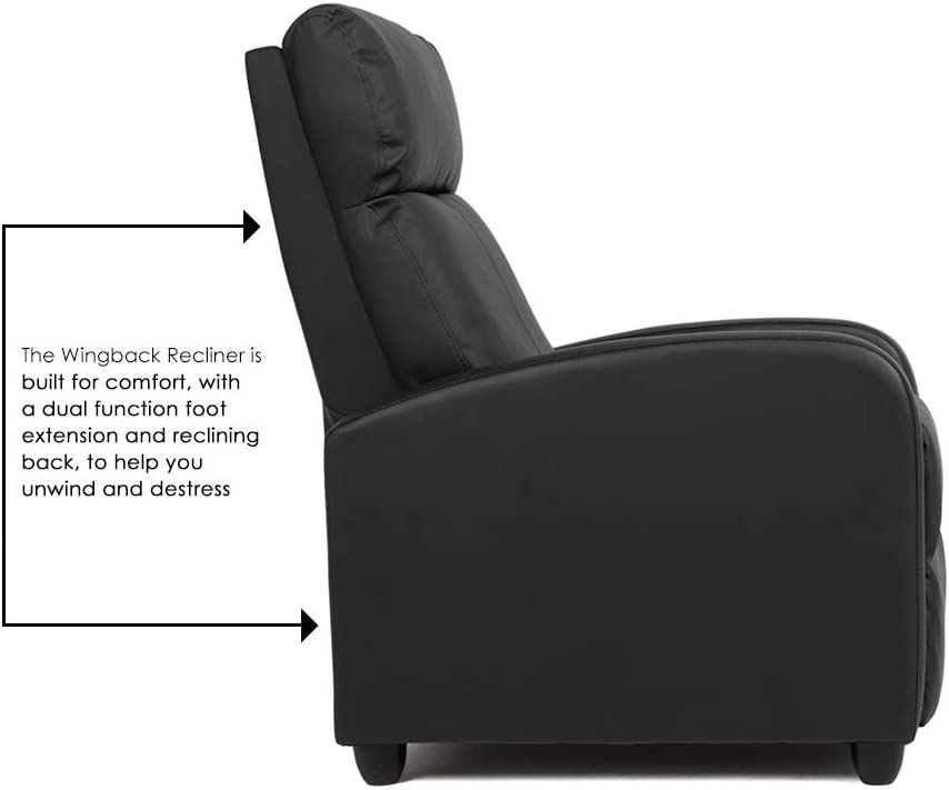 BestMassage Modern Leather Recliner Chair dual function foot extension