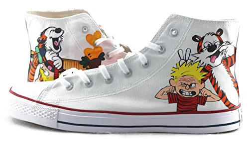 - Calvin and Hobbes Anime Shoes Hand Painted Shoes Sneakers Fashion Shoes for Kids/Unisex Adult Shoe Free Shipping